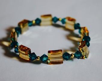 Blue bracelet Champagne (A6)