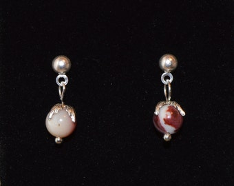 Australian Mookaite Vintage Flower Earrings