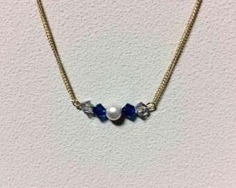 Pearl & Swarovski necklace
