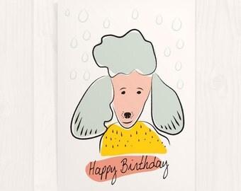 Poodle, Birthday Card, Greeting Card, Dog Card, Card for Dog Lovers, Dog Birthday, Happy Birthday, Birthday, Dog Lover