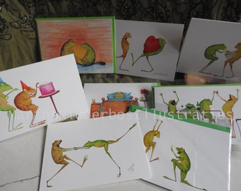 4 Greeting cards of your choice for E 10!