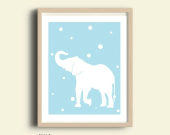 Elephant print Elephant art Elephant wall art Elephant printable animal print Elephant poster Elephant nursery Elephant decor boys girls art