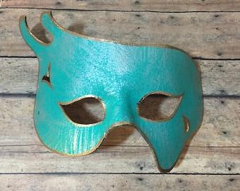 Dark Teal leather Mask