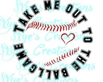 Take me out to the ballgame svg