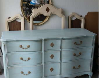 RESERVED! Vintage French Dresser by Huntley