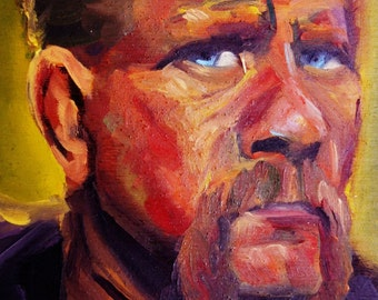 Abraham | Archival Print Portrait of Michael Cudlitz from Walking Dead by Jess Kristen