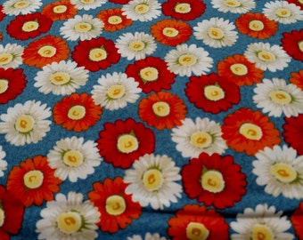 The Little Red Hen Blue Large Floral from Henry Glass & Co. by the yard