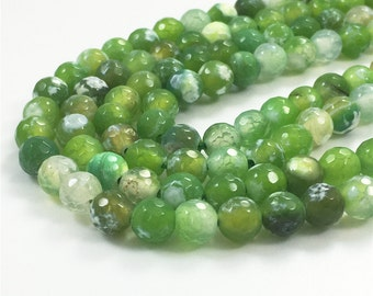 6mm Agate Beads, Faceted Agate Beads, Gemstone Beads