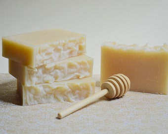 Honey Face and Body Soap/All Natural/Acne soap/Fragrance and Colorant Free