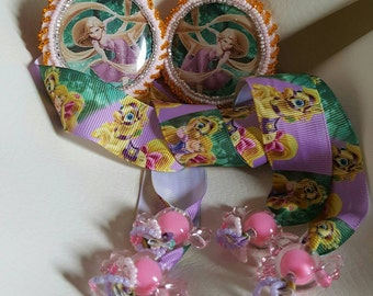 Beaded Rapunzel hair ties