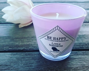 Be Happy soy wax candle