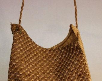 Large Fabric Bag Ecru and Ivory Item #B76
