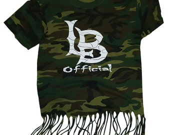 L.B. Official Logo Camouflage Ripped Shirt