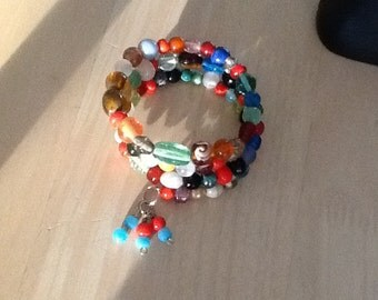 Bracelet,  pretty assortment  of glass beads.