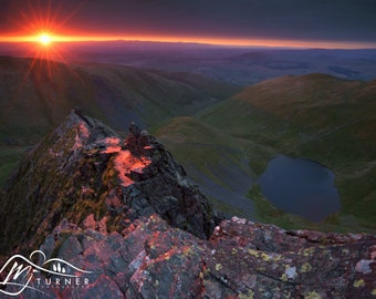 Scales Tarn from Sharp Edge  --  Landscape Photography by M J Turner