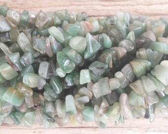 36 Inch Strand Green Aventurine Chip Beads 5-8mm