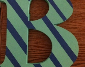 "Striped 7"" letter"