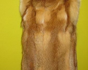 Fur vest,fox vest. Handmade.