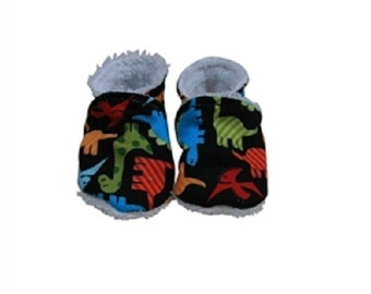 Slippers 100% cotton organic Dinos/Slippers biologic Cotton