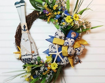 Nautical Grapevine Wreath