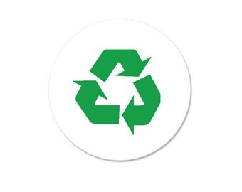 Recycling Symbol Pinback Button