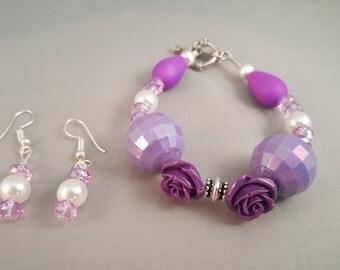 Purple Chunky Bracelet