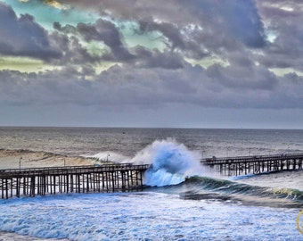Wave That Broke The Ventura Pier Print