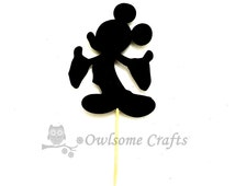 Mickey Mouse  Cupcake Toppers - Food Picks - Party Picks - Birthday Party Pick - Wedding Cupcake Topper - Custom Toppers