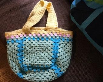 Pastel granny rainbow bag
