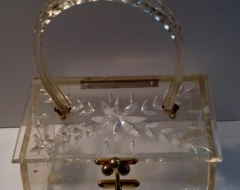 1950's Clear Lucite Purse