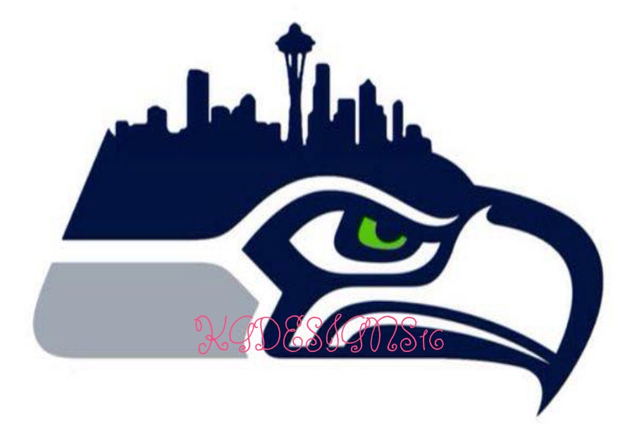 Seattle Seahawks Vinyl City Skyline Emerald City Vinyl Car
