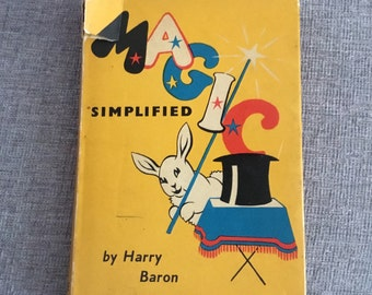 Vintage Magic Simplified by Harry Baron - 1954