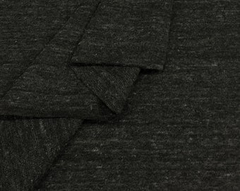 Soft and Lightweight Loose Stitch Jersey Fabric By The Yard (Wholesale Price Available By The Bolt) USA Made - 5562PCR4 Charcoal - 1 Yard