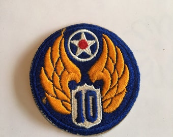 Vintage WWII Army Patch 10th Air Force