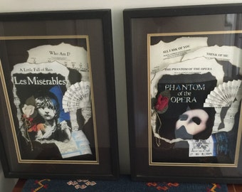 Phantom and Les Miserables art