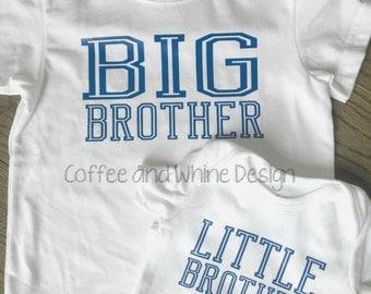 Big Brother/ Little Brother T-shirt & Bodysuit Set