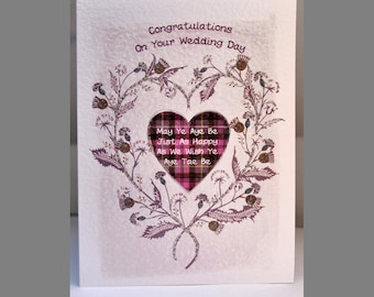 Special Wishes Large Thistle Heart Wedding Card SW WE06