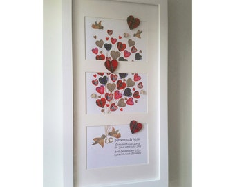 Framed Wishes Wedding Tartan Hearts and Birds