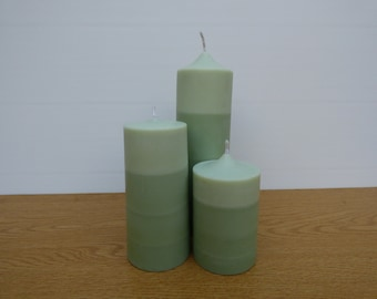 Stripy Unscented Candle Trio