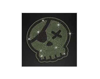Vest Bling Crystal Neon Color Sugar Personalised  Skull Rhinestone Iron on Transfer Appliques  Cat Elephant Hotfix Pattern for Clothes