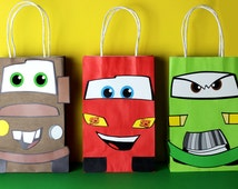 Cars Favor Bag Instant Download