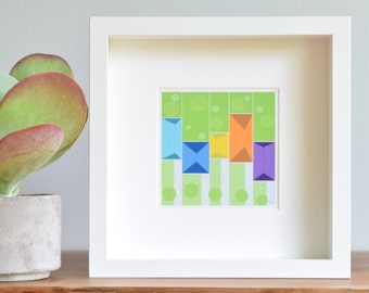 Modern Art Print,Wall Art, Limited Edition, Children's Decor, [City Plan.Bright Pastels] UNFRAMED Print