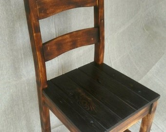 Upcycled Repurposed Single Dining Room Chair