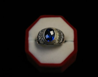 Blue Cut Quartz Ring (#R02)
