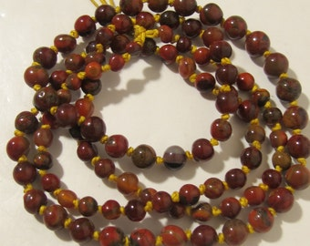 Natural  Colored Agate Long Necklace