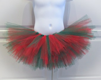 Red and Green Tutu/Christmas Tutu - Other Colors Available