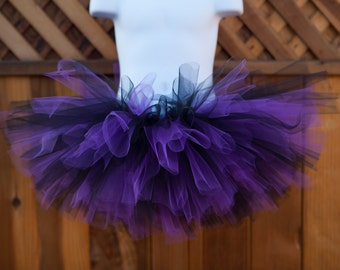 Black and Purple Tutu/Halloween Tutu/Ravens Tutu/Rockies Tutu - Other Colors Available