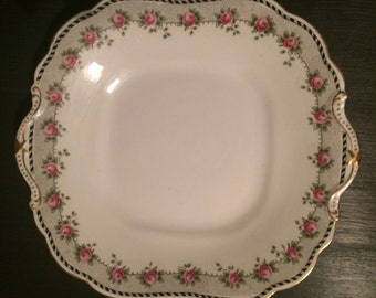 Vintage 1900s Aynsley Square Cake Plate (circa 1905)