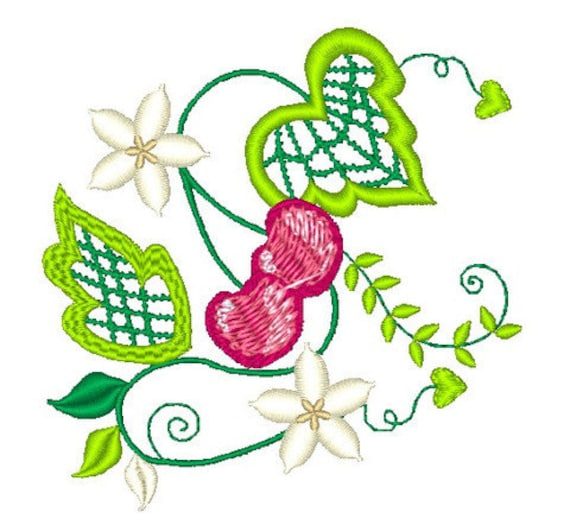 Cherry cutwork 10 machine embroidery designs from atw for Glass cut work designs