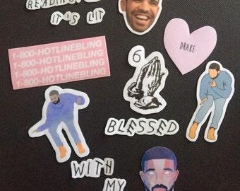 Drake Sticker Set of 10 (Glossy)